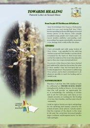 Towards Healing Letter.indd - Catholic Diocese of Ballarat