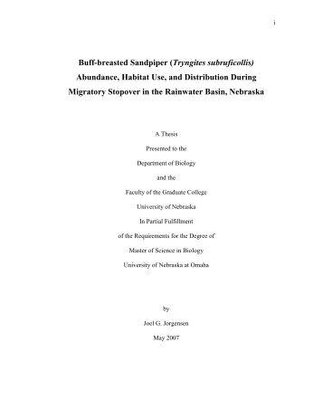 Buff-breasted Sandpiper Abundance, Habitat Use, and Distribution ...
