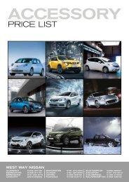 accessory price list - West Way Nissan