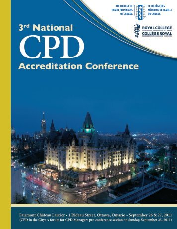 3rd National CPD Accreditation Conference Program - Royal College