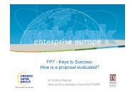 FP7 - Keys to Success: How is a proposal evaluated?