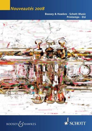 Nouveautés 2008 - Schott Music