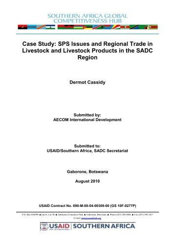 Case Study: SPS Issues and Regional Trade in ... - OIE Africa