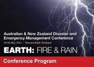 Provisional Program - Australian and New Zealand Disaster ...