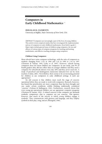 Computers in Early Childhood Mathematics [1] - PBS Kids