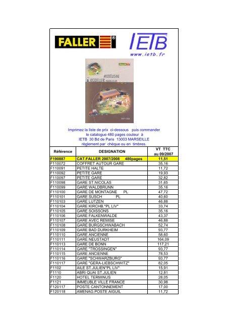 Passants III F155006 Faller Mod/élisme