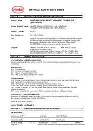 material safety data sheet - Henkel Content Management System