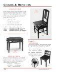 benches view catalog - Pianotek Supply Company - Page 2
