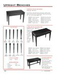 benches view catalog - Pianotek Supply Company - Page 4