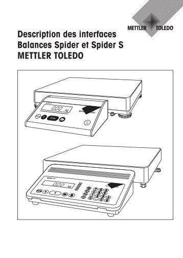 Description des interfaces Balances Spider et Spider S METTLER ...