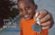 2010 ANNUAL REPORT - Habitat for Humanity Portland/Metro East