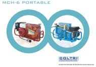 Coltri MCH 6 Portable Breathing Air Compressors Brochure