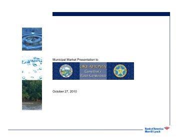 Municipal Market Presentation to October 27, 2010