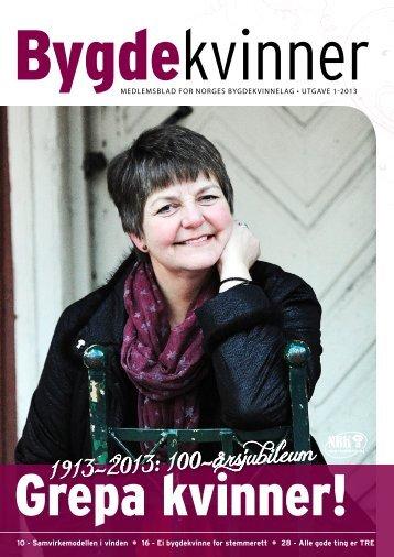1913-2013: 100-Ã¥rsjubileum - Bygdekvinnelaget