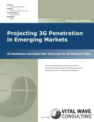 Projecting 3G Penetration in Emerging Markets - Vital Wave ...