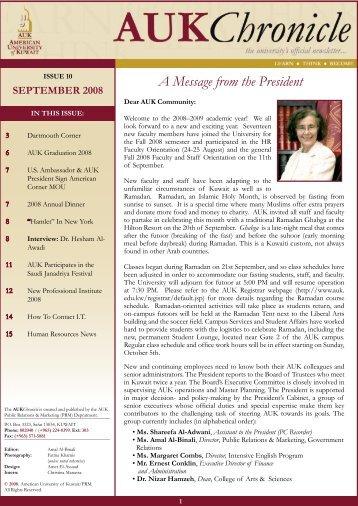 Issue 10 September 2008 - AUK
