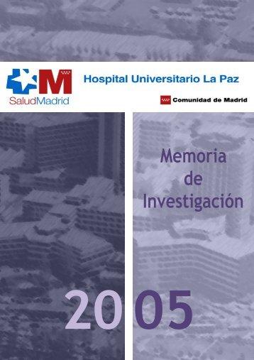 Memoria 2005.pdf - IdiPAZ