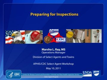 Preparing for Inspections - Select Agent Program