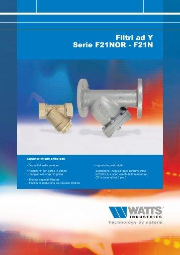 Filtri ad Y Serie F21NOR - F21N - Watts Industries
