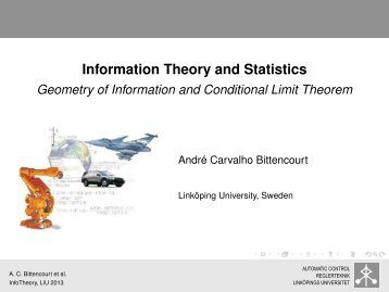 Geometry of Information and Conditional Limit Theorem - Linköping ...