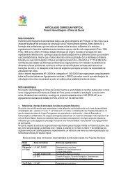 ARTICULAÇÃO CURRICULAR VERTICAL Projecto Aprendizagens ...