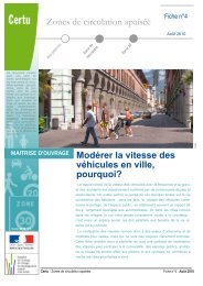 Modérer la vitesse des véhicules en ville - Sécurité routière