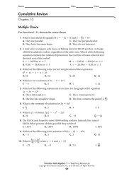 cumulative review 1-5 - MathChamber