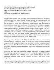 1 UCAPAN BALAS Tun Abdul Hamid Bin Haji Mohamad Penerima ...