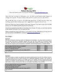Patient Participation Group Survey Questionnaire 2013 - Alexandra ...