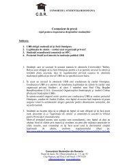 vezi aici poziţia CSR (.pdf) - Ziua de Cluj