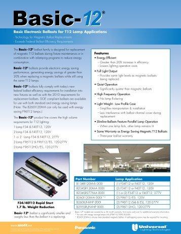 Basic-12 Flyer - Universal Lighting Technologies