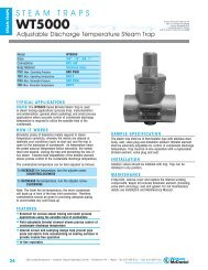 Adjustable Discharge Temperature Steam Trap ... - Temp-Press Inc