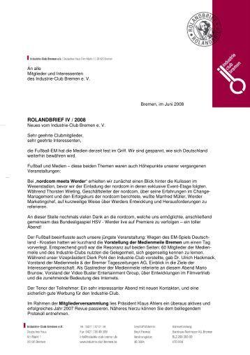 Rolandbrief IV/2008 - Industrie-Club-Bremen