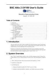 BSC Altix 2 UV100 User's Guide - Barcelona Supercomputing Center