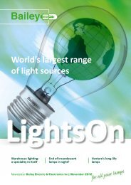 World's largest range of light sources - Downloads - Bailey