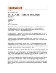 BIOLOGIE - Katalog des Lebens - iBOL