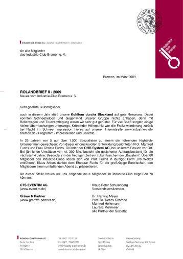 Rolandbrief 2'2009 - Industrie-Club-Bremen