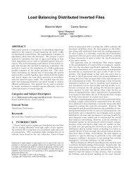 Load Balancing Distributed Inverted Files - CiteSeerX