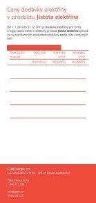 Ceník produktu Jistota elektřina - E.ON - Page 2