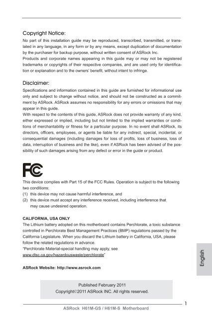 English Copyright Notice: Disclaimer - Xpress Platforms