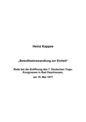 T-0295 - Bewußtseinswandlung zur Einheit - Heinz Kappes