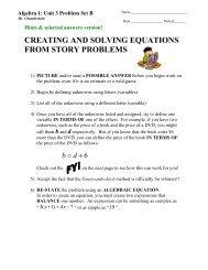 Unit 3 Problem Set B - MathChamber