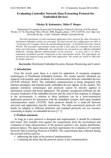 Evaluating Controller Network Data Extracting Protocol - Distributed ...
