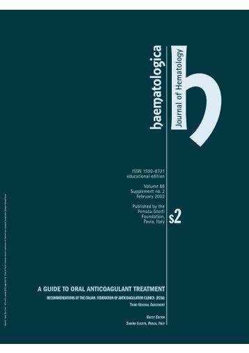 Haematologica 2003;88:supplement no. 2 - Supplements ...