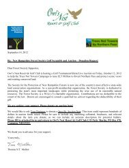 silent/live auction donation form - Owl's Nest Resort & Golf Club