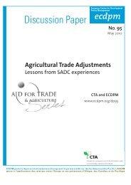 Agricultural Trade Adjustments - Inter-American Development Bank