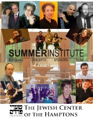 to download the 2013 Summer Institute brochure. - Jewish Center of ...