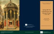 Living with Art in Renaissance and Baroque Europe - The Council of ...