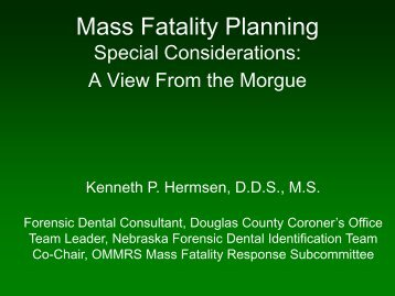 Mass Fatality Planning: - UNMC