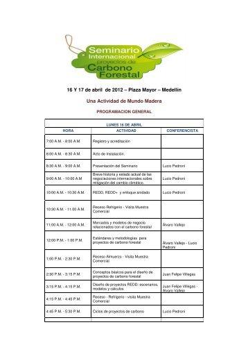 16 Y 17 de abril de 2012 – Plaza Mayor – Medellín Una ... - Afida